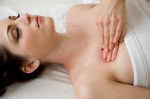 Massage for the pectoral muscles